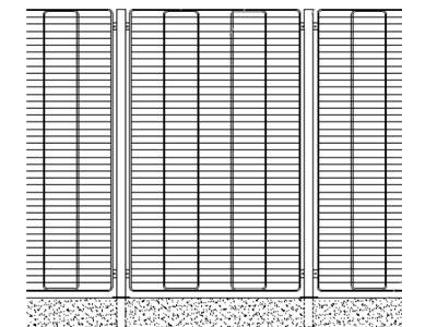 Recinzioni e cancelli grid 200 for Muretto recinzione dwg